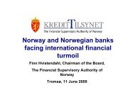 Norway and Norwegian banks facing international ... - Finanstilsynet