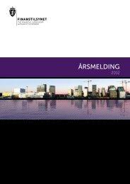 FINANSTILSYNET Årsmelding 2012
