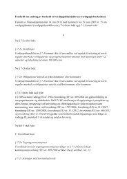 Forskrift om endring av forskrift til ... - Finanstilsynet