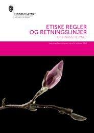 Etiske regler og retningslinjer for Finanstilsynet