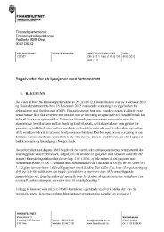 Brev til Finansdepartementet datert 4. mars 2013 - Finanstilsynet