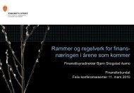 Rammer og regelverk for finansnæringen i årene ... - Finanstilsynet