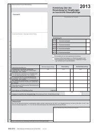 Formular Anmeldung 2013 - Finanzämter in Bayern