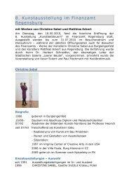 8. Kunstausstellung im Finanzamt Regensburg - Finanzämter in ...