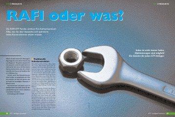 Die RAFI-ETF Familie verdient Ihre Aufmerksamkeit ... - Finanz-Archiv