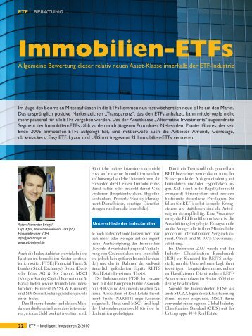 Immobilien-ETFs - Finanz-Archiv