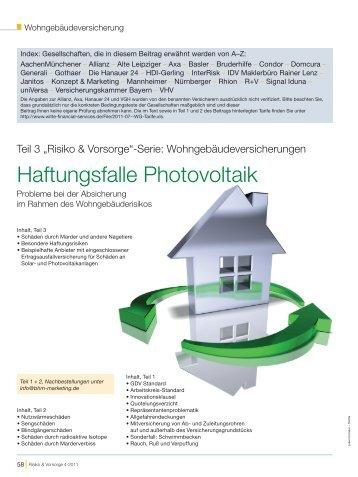 Risiko & Vorsorge 4-2011 - Finanz-Archiv