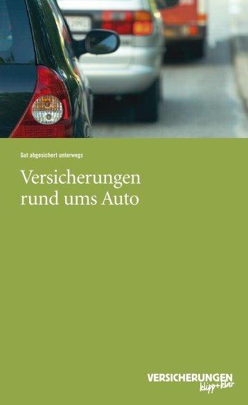 Versicherungen rund ums Auto - Versicherung und Verkehr