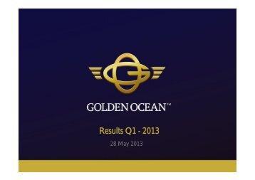 GOGL results Q1 2013