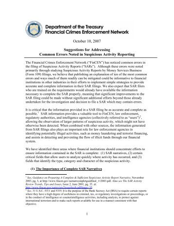 1 Report on Outreach to Money Services Businesses ... - FinCEN