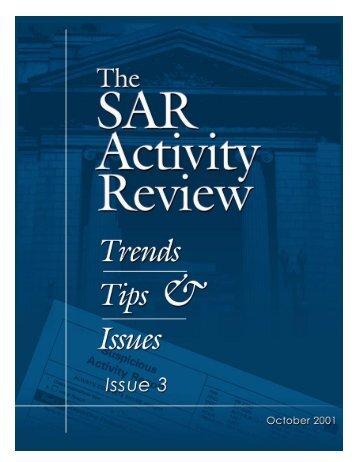 SAR Activity Review - FinCEN