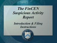 The FinCEN Suspicious Activity Report