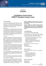 Carpets Installation Instructions FINETT Needled ... - Findeisen GmbH