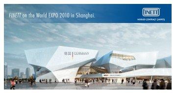 FINETT on the World EXPO 2010 in Shanghai. - Findeisen GmbH