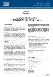 Carpets Installation Instructions FINDEISEN ... - Findeisen GmbH