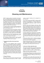 Carpets Cleaning and Maintenance - Findeisen GmbH