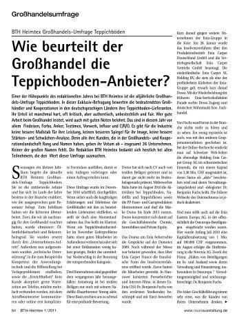 Wie beurteilt der Großhandel die Teppichboden ... - Findeisen GmbH