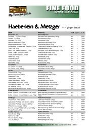 Haeberlein & Metzger - Fine Food International