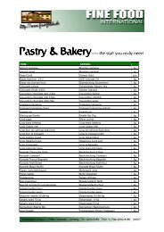 Pastry & Bakery - Fine Food International
