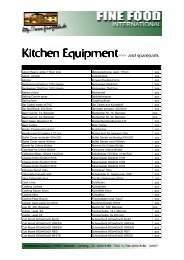 Kitchen Equipment - Fine Food International