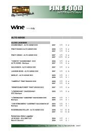 wine >>> italy - Fine Food International