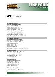 wine >>> spain - Fine Food International