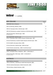 wine >>> oversea - Fine Food International