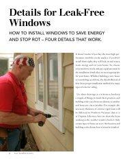 Details for Leak-Free Windows - Fine Homebuilding
