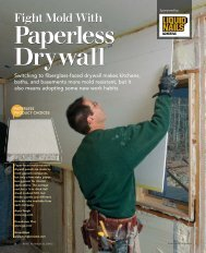 Fight Mold With - Fine Homebuilding