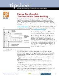 tipsheet - Fine Homebuilding