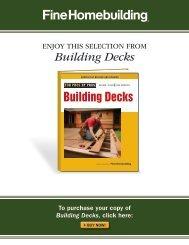 Building Decks - Fine Homebuilding