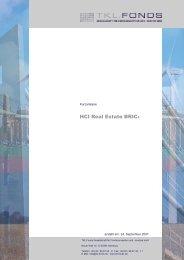 HCI Real Estate BRIC+ Kurzanalyse - Finest Brokers GmbH