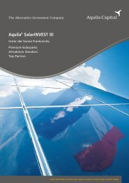 aquila_solarinvest_III_kurzprospekt.pdf - Umweltfonds aktuell
