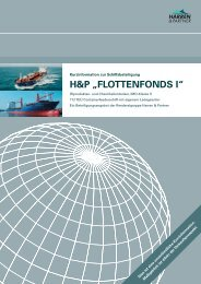 "H&P ""FLOTTENFONDS I"" - Finest Brokers GmbH"