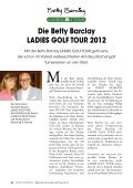 das journal zur betty barclay ladies golf tour 2012 - Finest Family - Seite 6