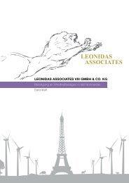 Leonidas VIII Datenblatt - Umweltfonds aktuell