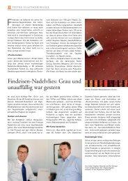 Findeisen-Nadelvlies: Grau und unauffällig war ... - Findeisen GmbH