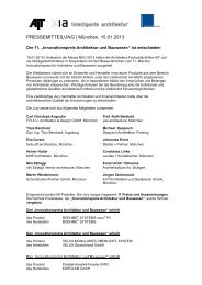 """Der """"Innovationspreis Architektur und ... - Findeisen GmbH"""