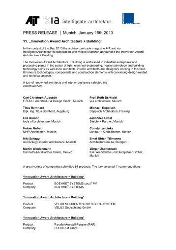 FINDEISEN_Press release_Innovation Award ... - Findeisen GmbH