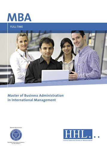 MBA Master of Business Administration in International ... - finexpert