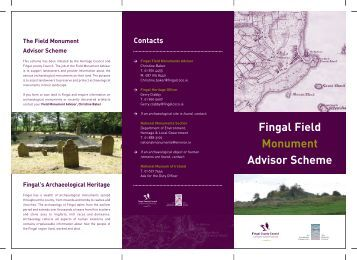 Field Monument Advisor Leaflet - pdf - Fingal County Council