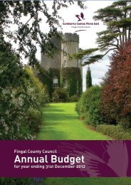 Annual Budget 2012 - pdf - Fingal County Council