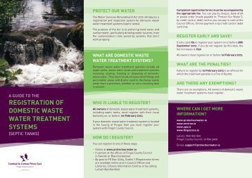 registration of domestic waste water treatment systems