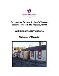 Howth St. Nessans & St. Peters Terrace ACA Statement of Character