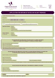 Application for Refund of Rates on Vacant Premises - Fingal County ...