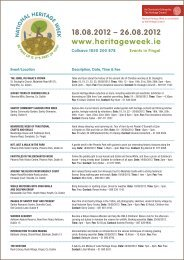 Heritage Week in Fingal 2012 - Fingal County Council