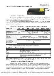 TRIANGULATION LASER SENSORS, LDS600 Series 1. GENERAL ...