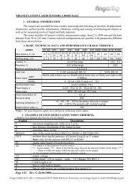 TRIANGULATION LASER SENSORS, LDS603 Series Rev. G (26.06 ...