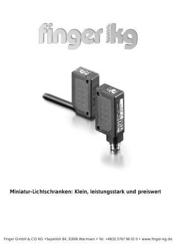 Miniatur-Lichtschranken: Klein, leistungsstark und preiswert