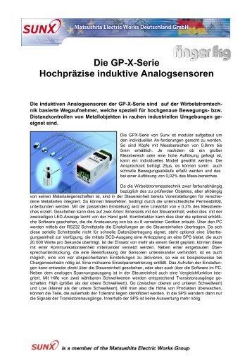 Die GP-X-Serie Hochpräzise induktive Analogsensoren